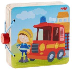 Wooden Book Fire brigade Haba
