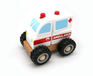 Block Ambulance with Rubber Wheels