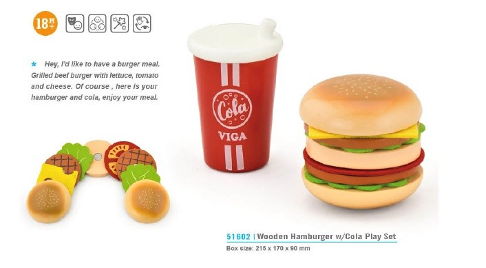 Burger with cola