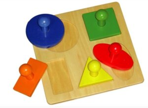 Wooden 5 Shape Peg Puzzle