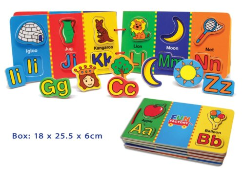 Wooden Magnetic Alphabet Book