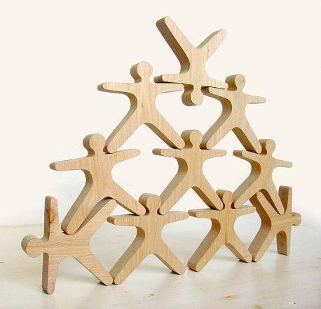 Wooden Balancing Acrobats 10 Piece
