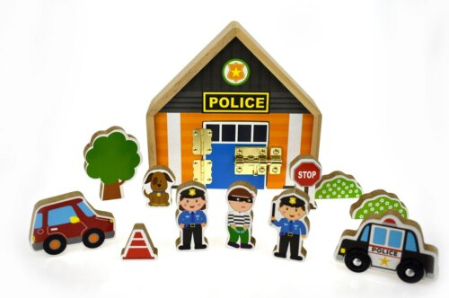 Metal Latch Police Playset
