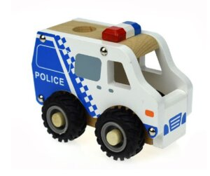 Police Cruiser with rubber wheels