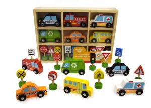 Wooden Vehicles with Signs