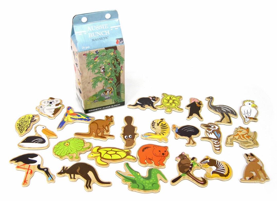 Wooden Magnetic Oz Animals in a Milk Carton