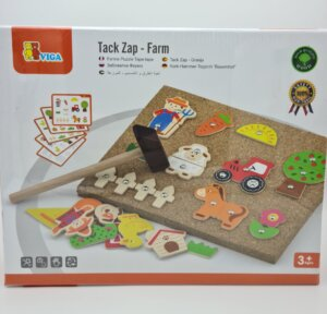 Wooden Tap-n-Pin Farm Set