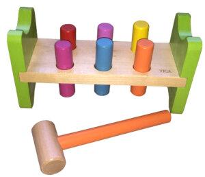 Wooden Hammering Peg Bench