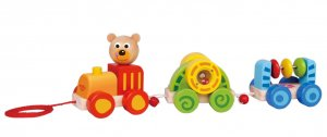 Pull Along Baby Bear Train