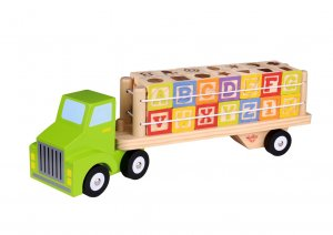 Wooden Transporter Truck with Blocks