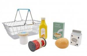 Wooden Supermarket Basket Playset