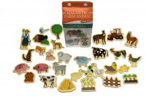 Magnetic Farm Animals in a milk carton