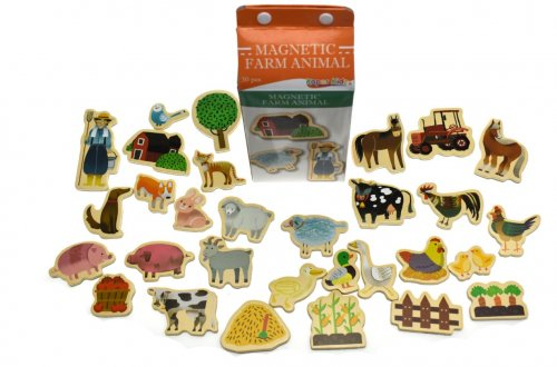 Magnetic Farm Animals in a milk carton