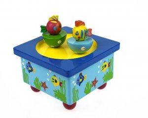 Wooden Fish Music Box