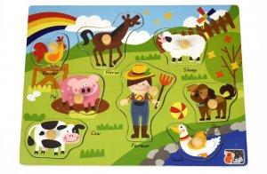 2 in 1 Farm Animal peg puzzle