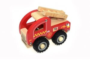 Fire Engine with Rubber Wheels