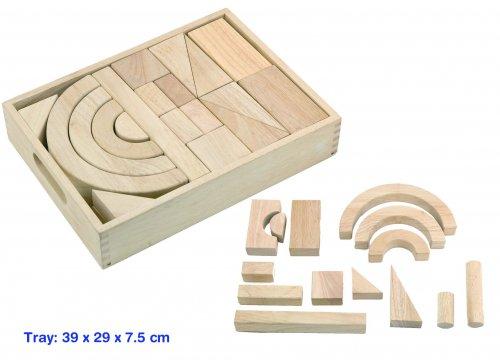Jumbo blocks in a tray