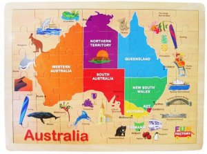 Large Australian Map Jigsaw