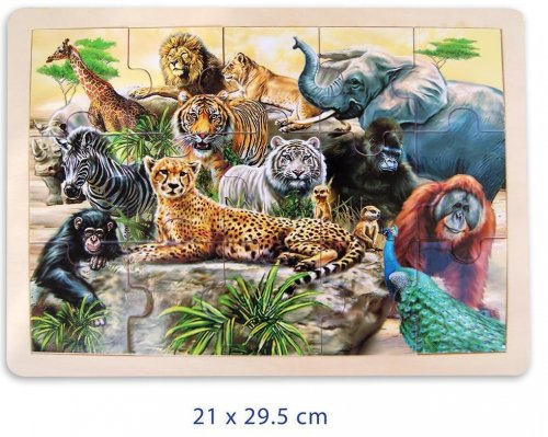 Large Jungle Animals Jigsaw