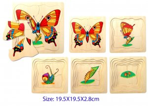 Wooden Layer Butterfly Puzzle