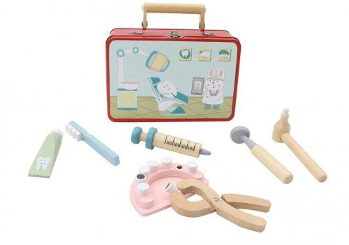 Wooden Dentist Playset in Tin Case