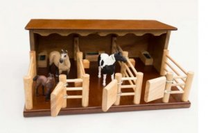 3 Horse wooden stables