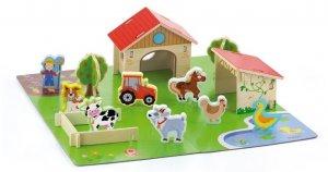 VG Wooden Farm Playset